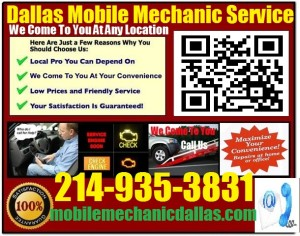 Mobile Mechanic Dallas Texas Auto Car Repair Service shop on wheels